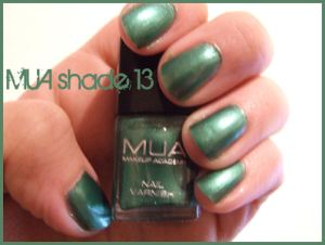 MUA Nail Polish shade 13 - no flash