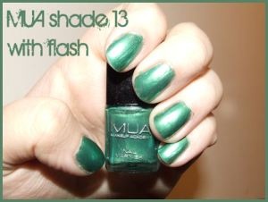 MUA Nail Polish shade 13 - with flash