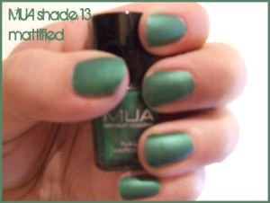 MUA Nail Polish shade 13 - mattified