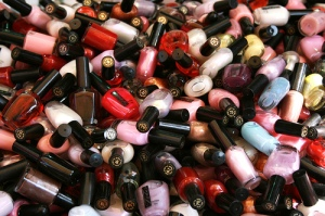 Nail Polishes in a pile
